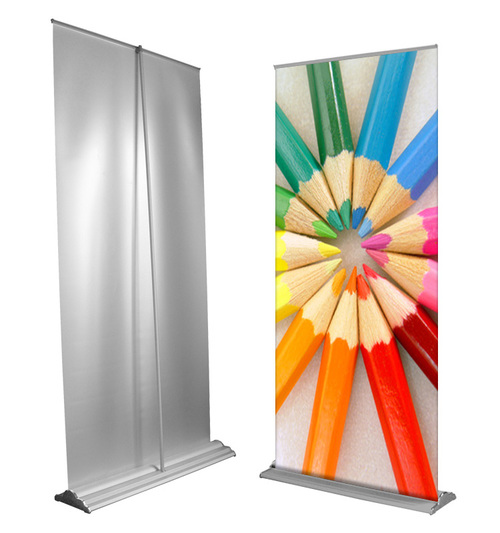 Pull up banner with Premium Silver base