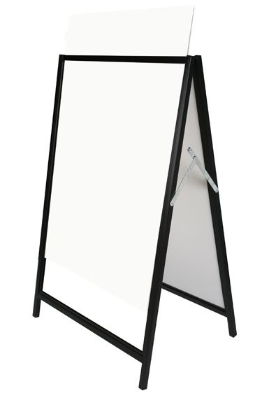 A-frame with Corflute inserts, Metal Frame